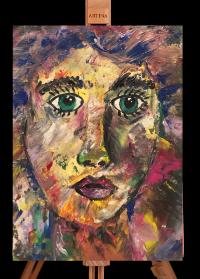 Abstraktes Portrait