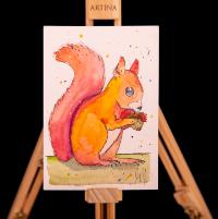 Mühsam ernäht sich das Eichhörnchen
