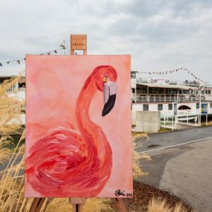 Art Adventure Flamingo Schiff